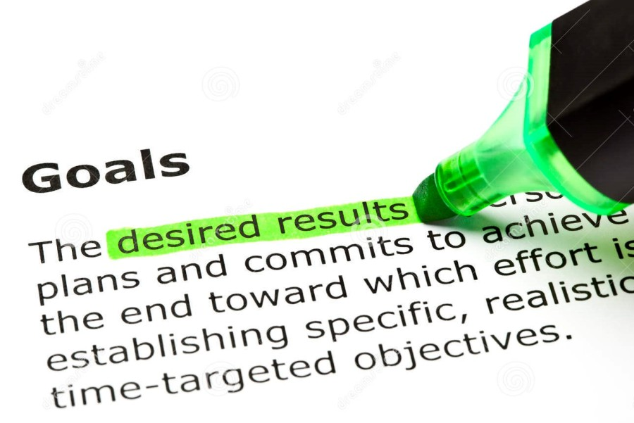definition-word-goals-desired-results-highlighted-green-under-heading-92864639